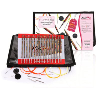 KnitPro SYMFONIE Interchangeable Circular Knitting Needles Set Deluxe
